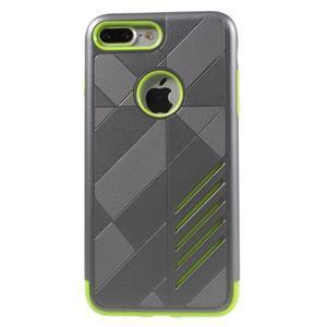 Armory odolný obal pre mobil iPhone 8 Plus a iPhone 7 Plus - sivý/zelený - 2