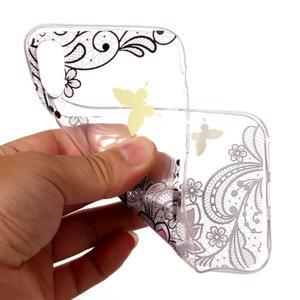 Bossi gélový obal na mobil iPhone X - motýľ a kvetina - 2
