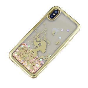 Candy presýpací gélový obal na iPhone X - dievča - 2