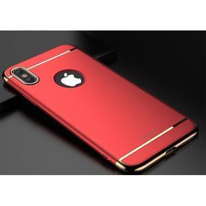 Odolný obal 3v1 na mobil iPhone X - červený - 2