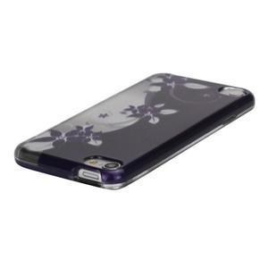 Safety plastové puzdro 2v1 na iPod Touch 5 - fialové kvety - 2