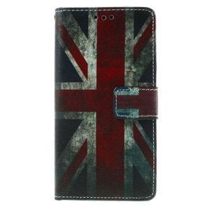 Peňaženkové PU kožené puzdro Lenovo Vibe X2 - UK vlajka - 2