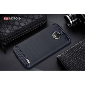 Carbon odolný obal pre Lenovo Moto E4 - tmavomodrý - 2
