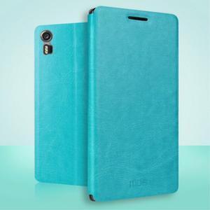 PU kožené puzdro pre Lenovo Vibe Shot - modré - 2