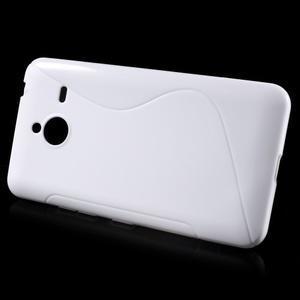 S-line gélový obal na Microsoft Lumia 640 XL - biely - 2