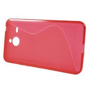 S-line gélový obal na Microsoft Lumia 640 XL - červený - 2