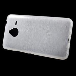 Gélový kryt s brúseným vzorom Microsoft Lumia 640 XL - biely - 2