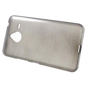 Gélový kryt s brúseným vzorom Microsoft Lumia 640 XL -  šedý - 2