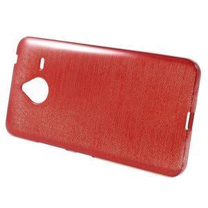 Gélový kryt s brúseným vzorom Microsoft Lumia 640 XL -  červený - 2