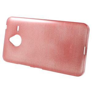 Gélový kryt s brúseným vzorom Microsoft Lumia 640 XL - ružový - 2