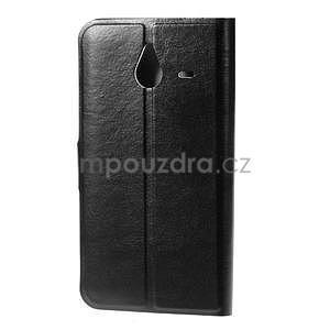 Peňaženkové PU kožené puzdro na Microsoft Lumia 640 XL - čierne - 2