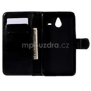 PU kožené puzdro na Microsoft Lumia 640 XL - čierne - 2