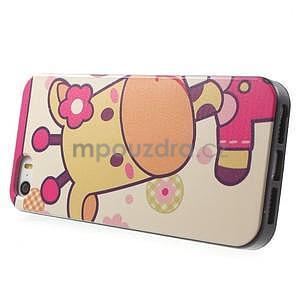 Gélové puzdro na iPhone 5 a 5s - kravička - 2