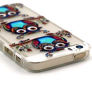 Fun gélový obal na iPhone 5s a iPhone 5 - sova - 2