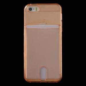 Ultra tenký obal s vreckom pre iPhone 5 a 5s - oranžový - 2