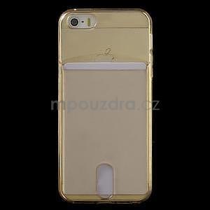 Ultra tenký obal s vreckom pre iPhone 5 a 5s - champagne - 2