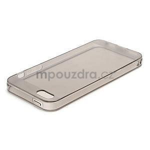 Gélový transparentný obal na iPhone 5 a 5s - šedý - 2