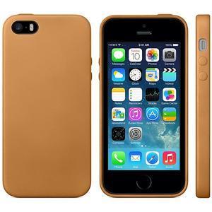Gélový obal s textúrou na iPhone 5 a 5s - oranžový - 2