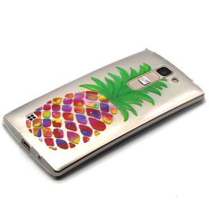 Priehľadný gélový obal na LG G4c - ananás - 2