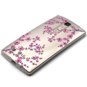 Priehľadný gélový obal pre LG G4c - slivkové kvety - 2