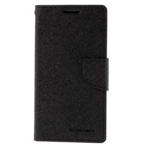 Diary PU kožené puzdro na LG G4c- čierne - 2