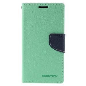 Diary PU kožené puzdro na LG G4c- cyan - 2
