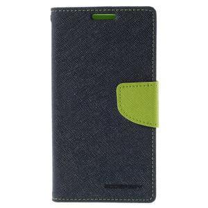 Diary PU kožené puzdro na LG G4c- tmavomodré - 2