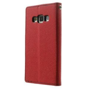 Diary PU kožené puzdro na Samsung Galaxy A3 - červené - 2