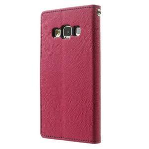 Diary PU kožené puzdro na Samsung Galaxy A3 - rose - 2