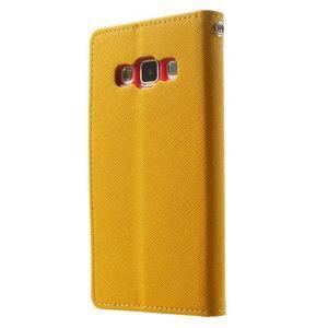 Diary PU kožené puzdro pre Samsung Galaxy A3 - žlté - 2