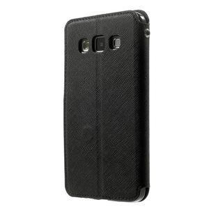 Roar peňaženkové puzdro s okienkom na Samsung Galaxy A3 - čierne - 2