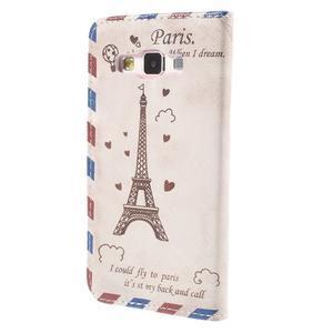 Puzdro na mobil Samsung Galaxy A3 - Eiffelova veža - 2
