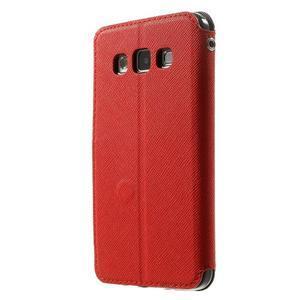 Roar peňaženkové puzdro s okienkom pre Samsung Galaxy A3    - červené - 2