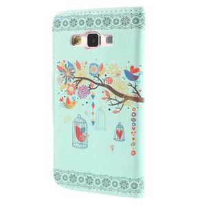 Puzdro na mobil Samsung Galaxy A3 - vtáčik v klitke - 2