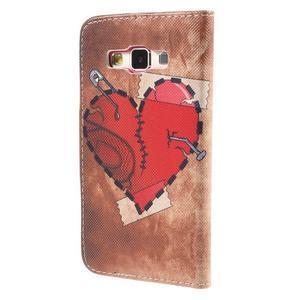 Puzdro pre mobil Samsung Galaxy A3    - červené srdiečko - 2