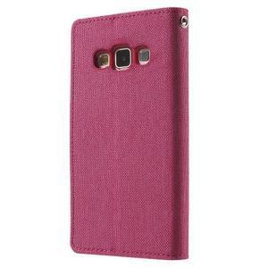 Luxury textilné / koženkové puzdro na Samsung Galaxy A3 - rose - 2