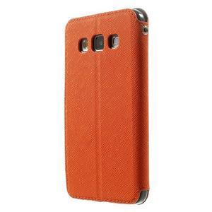 Roar peňaženkové puzdro s okienkom na Samsung Galaxy A3 - oranžové - 2
