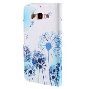 Peňaženkové púzdro na Samsung Galaxy A3 - modré púpavy - 2