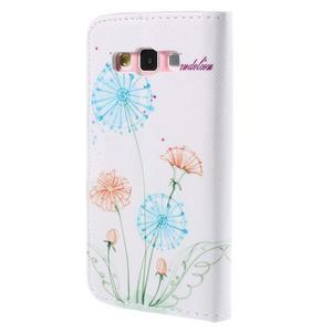 Peňaženkové púzdro na Samsung Galaxy A3 - kreslené púpavy - 2