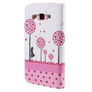 Peňaženkové púzdro pre Samsung Galaxy A3 - dots - 2