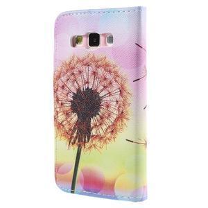Peňaženkové púzdro na Samsung Galaxy A3 - oranžová púpava - 2