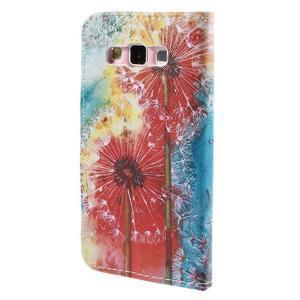 Peňaženkové púzdro na Samsung Galaxy A3 - malované púpavy - 2