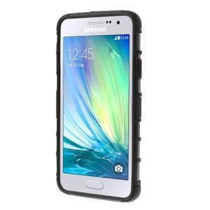 Outdoor odolný kryt na mobil Samsung Galaxy A3 - čierny - 2