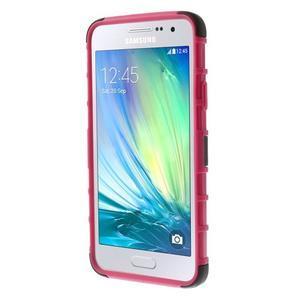 Outdoor odolný kryt pre mobil Samsung Galaxy A3 - rose - 2