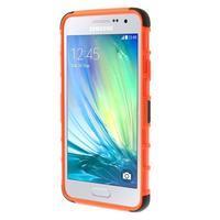 Outdoor odolný kryt pre mobil Samsung Galaxy A3    - oranžový - 2/7