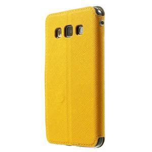 Roar peňaženkové puzdro s okienkom na Samsung Galaxy A3 - žlté - 2
