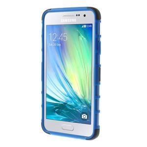Outdoor odolný kryt na mobil Samsung Galaxy A3 - modrý - 2