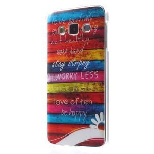 Gélový obal na mobil Samsung Galaxy A3 - farby dreva - 2