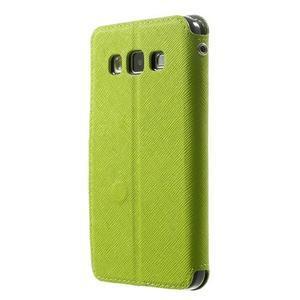 Roar peňaženkové puzdro s okienkom pre Samsung Galaxy A3 - zelené - 2