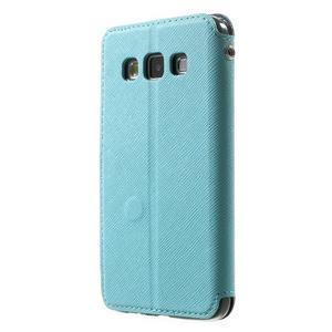 Roar peňaženkové puzdro s okienkom na Samsung Galaxy A3 - svetlomodré - 2